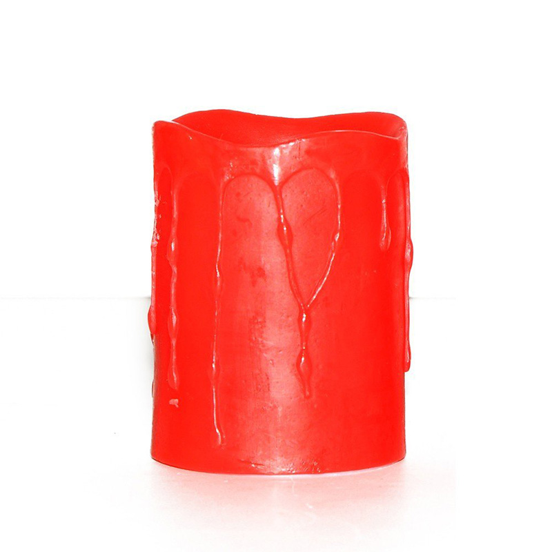 Red Tears Flameless LED Candle for Wedding and Decoration