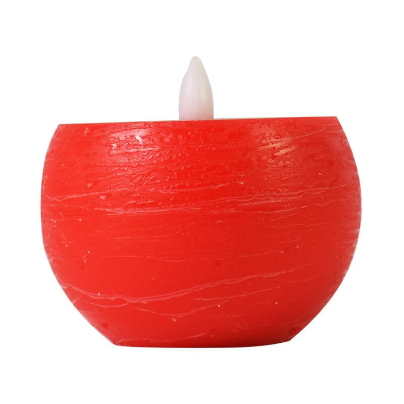Yellow/Red Round Tealight Candle Flameless LED Candle