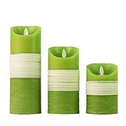 The 3 Set of Swing Wick Pillar Flameless LED Candle