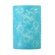 Hollow out Pillar Flameless Candle with Double Color